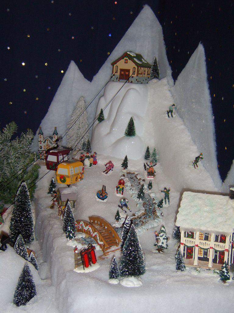 Tout ce qui me passionne page 2 - Decor village noel miniature ...